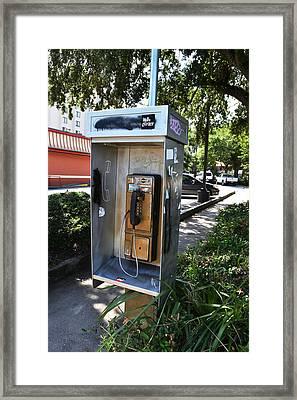 Telephone Box Framed Print by Victoria Clark