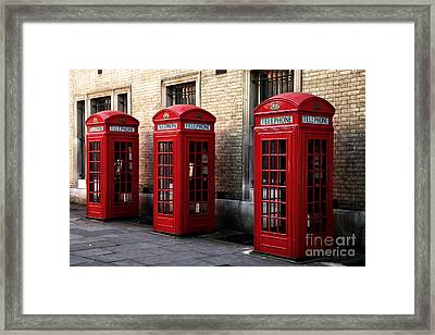 Telephone Choices Framed Print by John Rizzuto