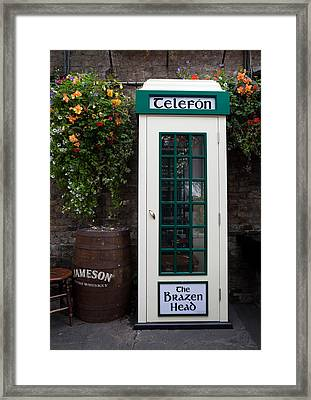Telephone Kiosk, The Brazen Head Pub Framed Print by Panoramic Images