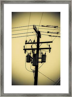 Telephone Pole 3 Framed Print
