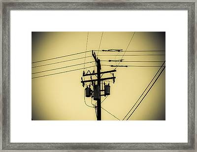 Telephone Pole 4 Framed Print by Scott Campbell