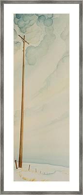 Telephone Pole Framed Print by Scott Kirby