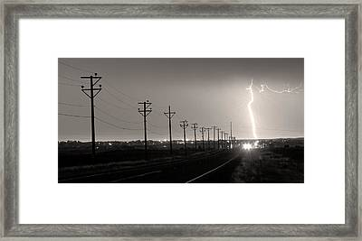 Telephone Poles Black And White Sepia Framed Print by James BO  Insogna