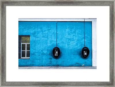 Telephones Framed Print