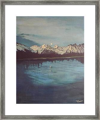Telequana Lk Ak Framed Print by Terry Frederick