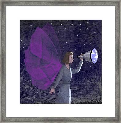 Telescope Framed Print