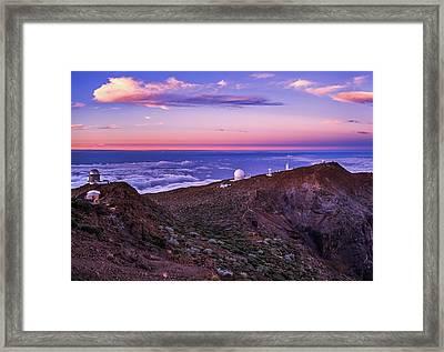 Telescopes On La Palma Framed Print