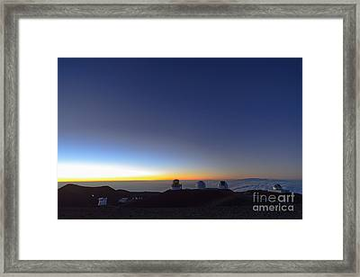 Telescopes On Mauna Kea  Framed Print