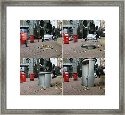 Telescopic Street Toilet Framed Print by Thierry Berrod, Mona Lisa Production