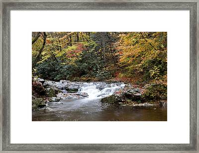 Framed Print featuring the photograph Telico River Cascade by Robert Camp