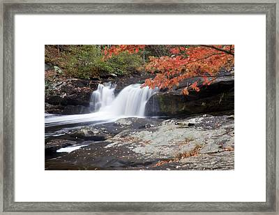 Framed Print featuring the photograph Telico River Waterfall by Robert Camp
