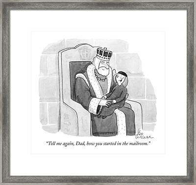 Tell Framed Print by Leo Cullum