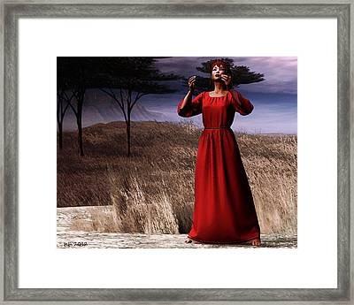 Telling A Story Framed Print