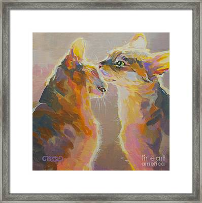 Telling Secrets Framed Print by Kimberly Santini