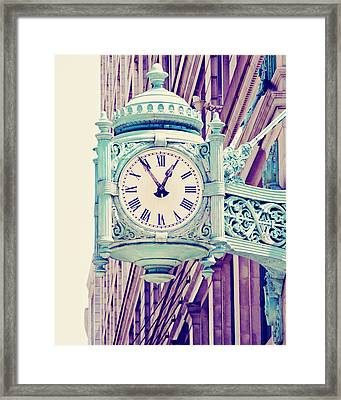 Telling Time Framed Print