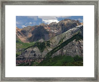 Framed Print featuring the photograph Telluride Box Canyon by Robert Lozen