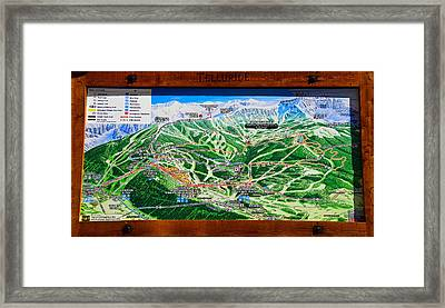 Telluride Ski Map Detail  Framed Print