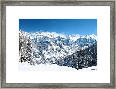 Telluride Snowscape Framed Print