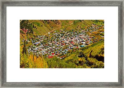 Telluride Town Detail Work C Framed Print by David Lee Thompson