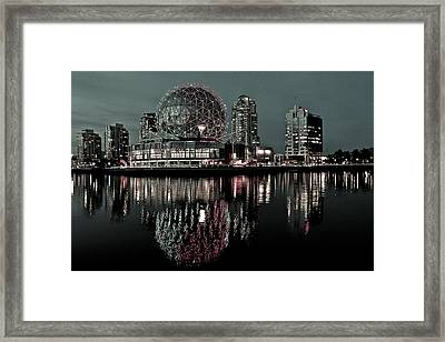 Telus World Of Science Framed Print by Brian Chase