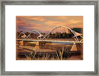Tempe Pedestrian Bridge Framed Print