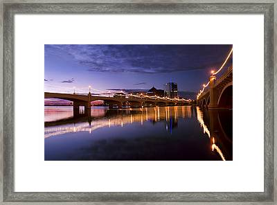 Tempe Town Lake Blues Framed Print
