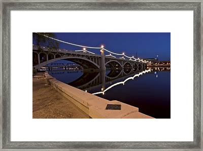Tempe Town Lake Lights Framed Print by Dave Dilli