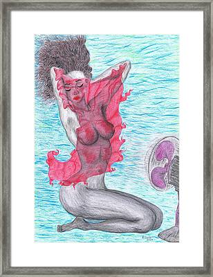 Framed Print featuring the drawing Temperate Satin Breeze by Kenneth Clarke
