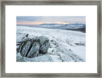 Temperature Inversion From Red Screes Framed Print by Ashley Cooper