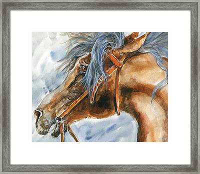 Tempermental Framed Print by Mary Armstrong