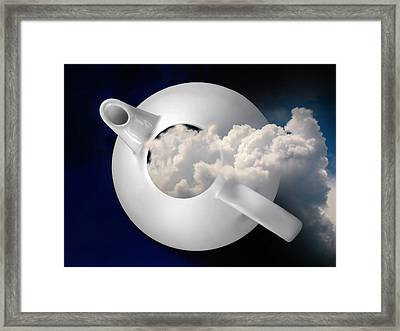 Tempest In A Teapot Framed Print
