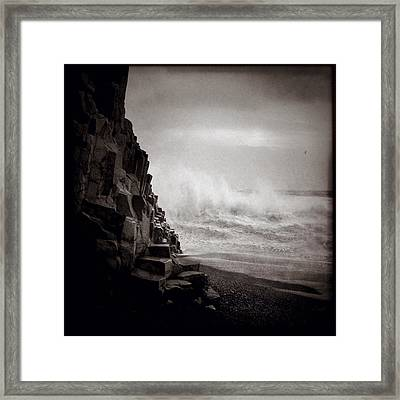 Raging Sea Framed Print by Dave Bowman