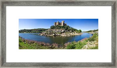 Templar Castle Of Almourol Framed Print by Jose Elias - Sofia Pereira