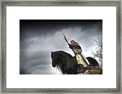 Templar Knight Friesian I Framed Print by Holly Martin