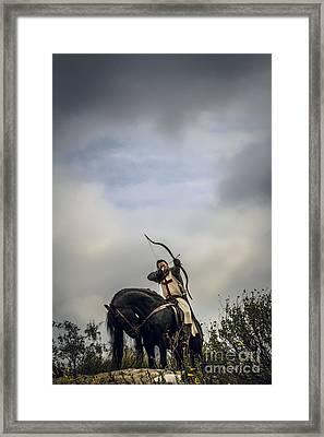 Templar Knight Friesian IIi Framed Print by Holly Martin