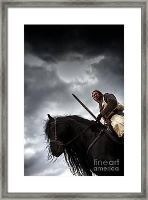 Templar Knight Friesian Iv Framed Print by Holly Martin