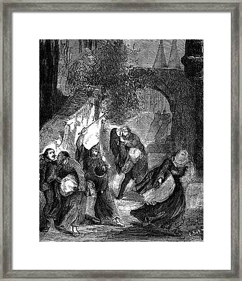 Templar Secret Society Attacking Jews Framed Print by Collection Abecasis