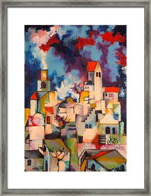 Templars' Colony Jerusalem Framed Print by Moshe BenReuven