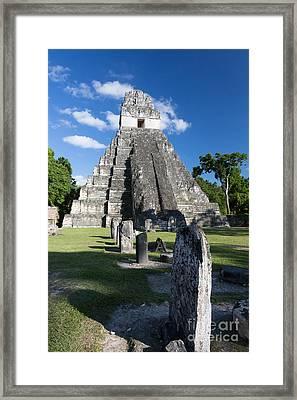 Temple 1 Or Gran Jaguar Temple - #13 Framed Print by Dan Hartford