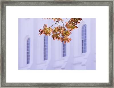 Temple Accent Framed Print