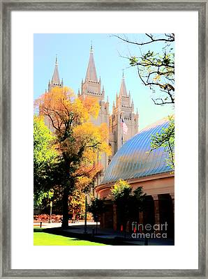 Temple And Tabernacle Framed Print by Kathleen Struckle