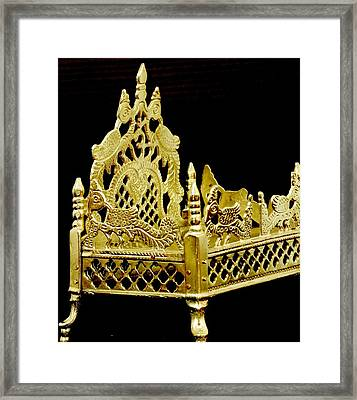 Temple Art - Brass Handicraft Framed Print