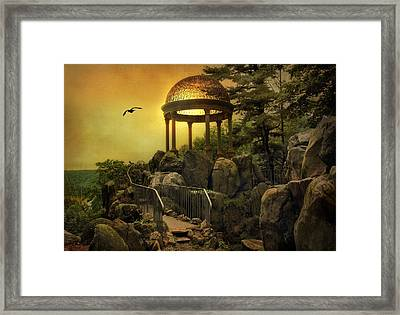 Temple At Dusk Framed Print