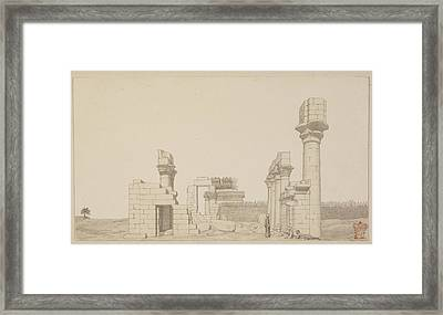 Temple At Esneh In Egypt Framed Print