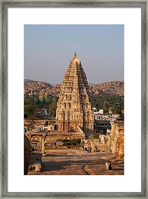 Temple At Hampi Framed Print