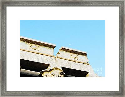 Framed Print featuring the photograph Temple At Luxor by Cassandra Buckley