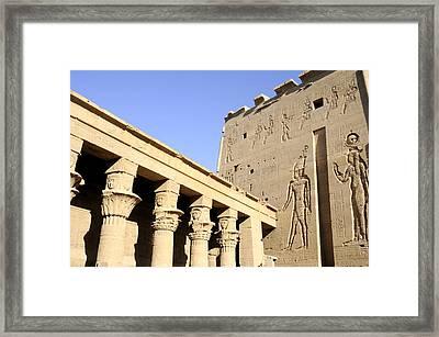 Temple At Philae In Egypt Framed Print by Brenda Kean