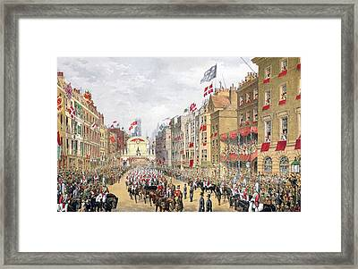 Temple Bar, 7th March, 1863, From A Framed Print by English School