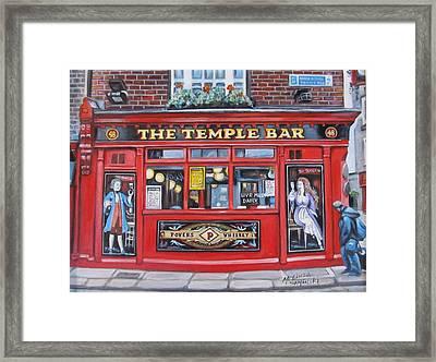 Temple Bar Dublin Ireland Framed Print by Melinda Saminski