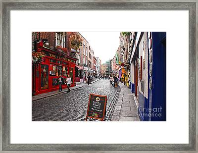 Framed Print featuring the photograph Temple Bar by Mary Carol Story